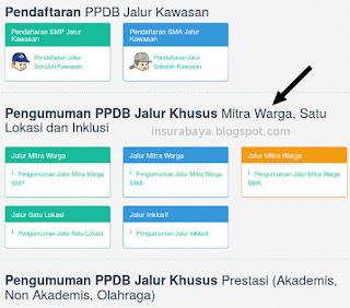Pengumuman PPDB Surabaya Jalur Mitra Warga, Satu Lokasi, Inklusi