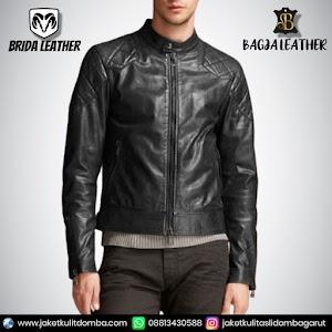 Jual Jaket Kulit Asli Garut Pria Domba Original Brida Leather B88 | WA 08813430588