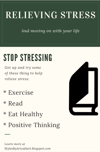 Stress, books, food, exercise
