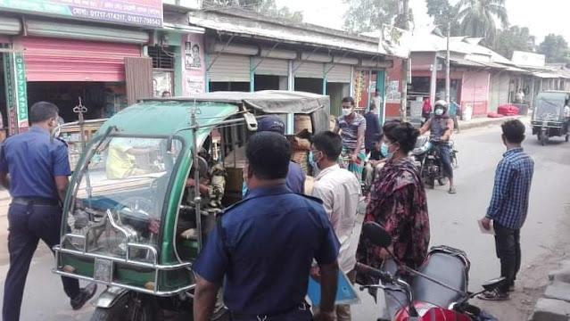 গোপালপুরে মাক্স ব্যবহার না করায় ভ্রাম্যমাণ আদালতের জরিমানা