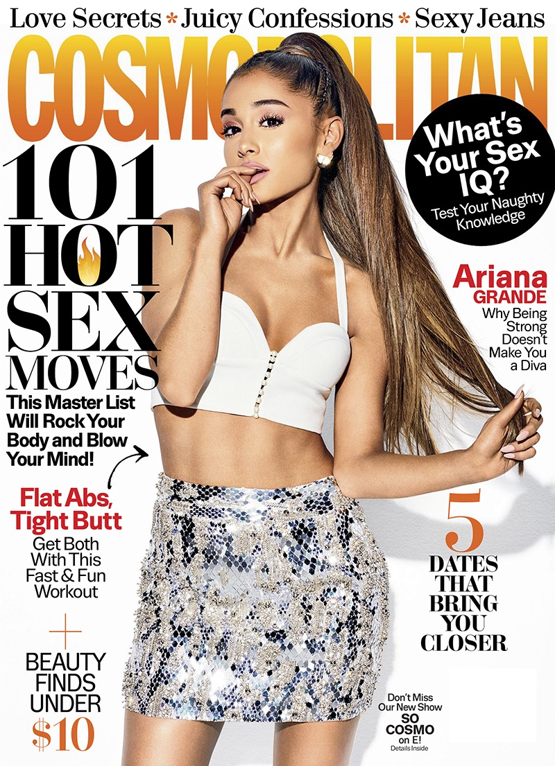 Ariana Grande stars on Cosmopolitan April 2017