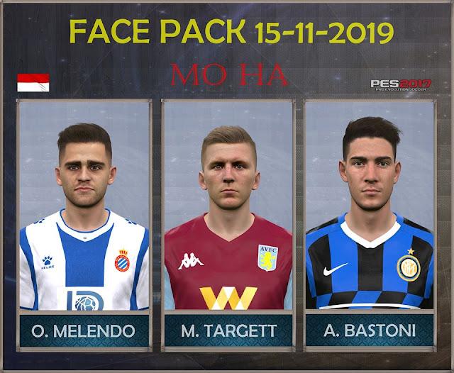 PES 2017 Melendo, Targett and Bastoni Face by Mo Ha