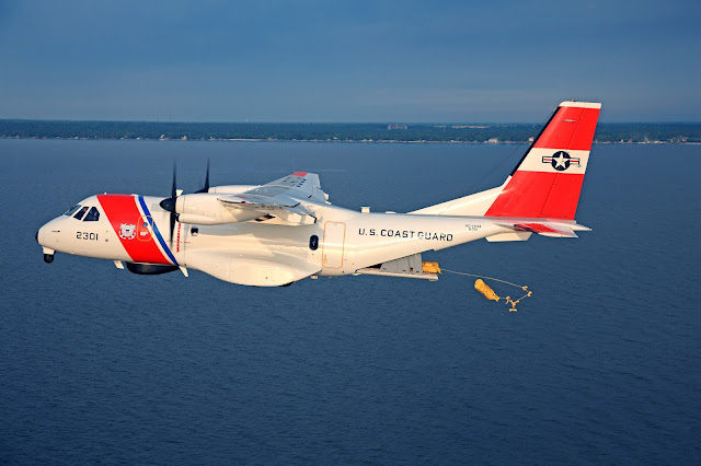 Casa CN-235 of US Coast Guard While Dropping Logistics