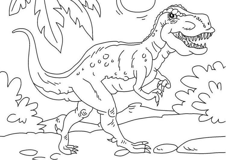 Dinosaurs coloring pages 0