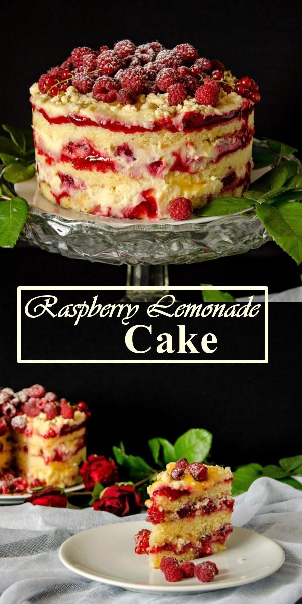 Raspberry Lemonade Cake #Cakerecipes