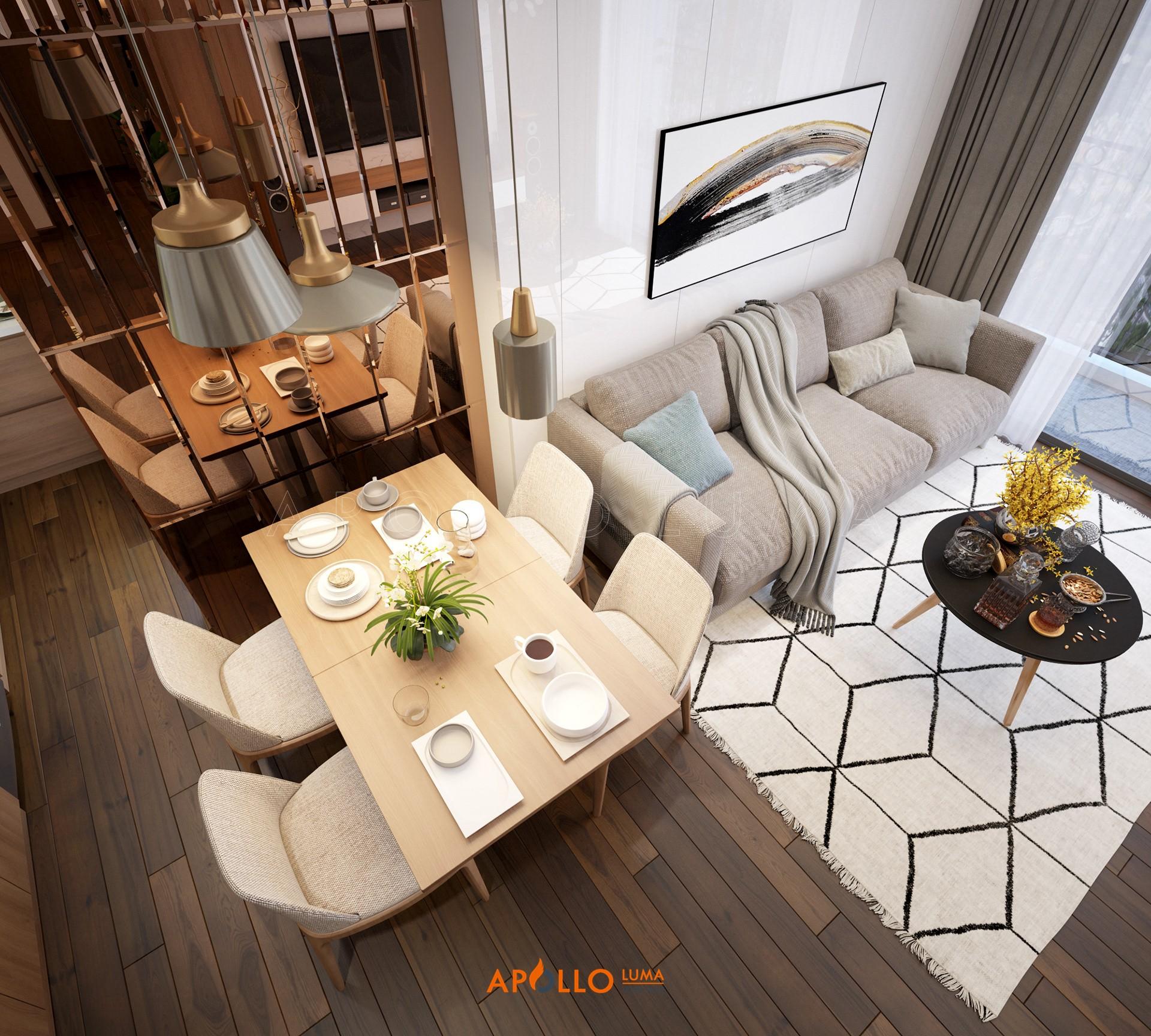 Thiết kế nội thất căn hộ 2 phòng ngủ D'.Capitale Trần Duy Hưng