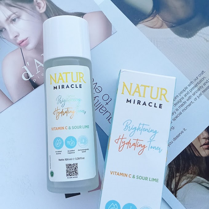 Review Natur Brightening Hydrating Toner - haloanisa.com