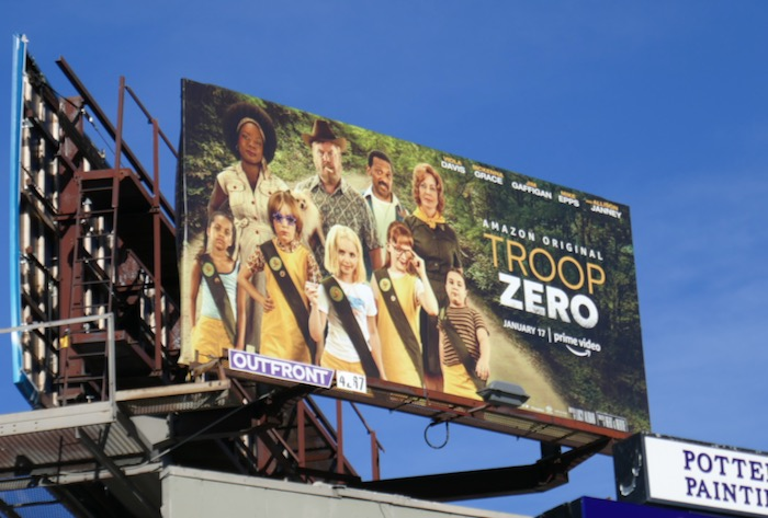 Troop Zero movie billboard