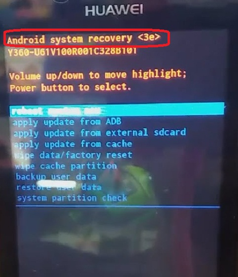Perbaiki android system recovery 3e