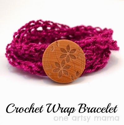 Pulsera-Brazalete Crochet para el Dia de la Madre