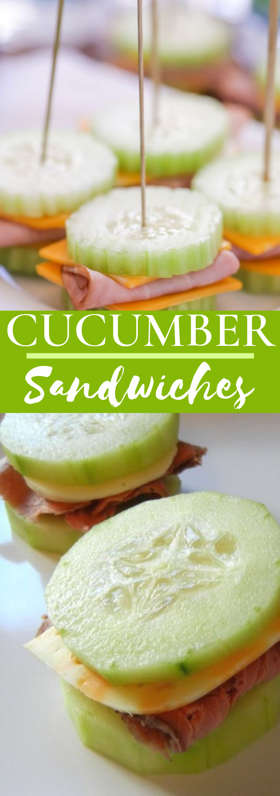 Cucumber Sandwiches #appetizers #keto