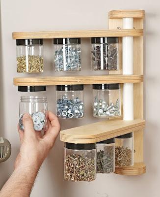 Organizador para parafusos, aroelas e componentes eletricos.