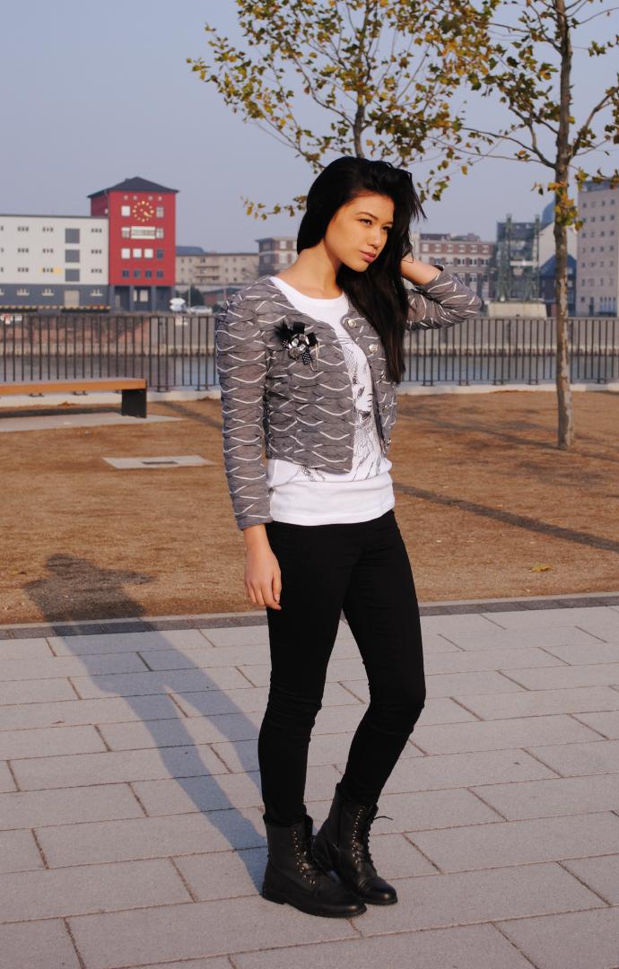 Cropped Bolero jacket, Arafeel