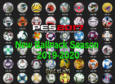 PES 2017 New Ballpack Season 2019/2020