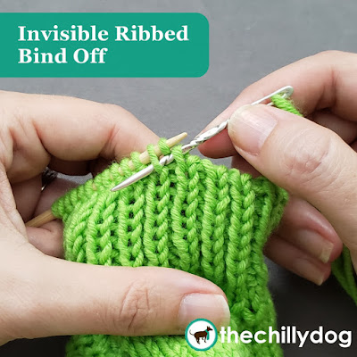 Knitting Tutorial: The invisible ribbed bind off is very similar to Kitchener grafting