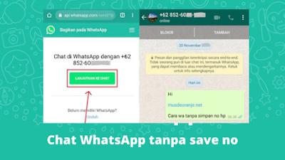 cara whatsapp tanpa simpan nomor