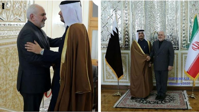 إيران: وزير خارجية قطر سيلتقي جواد ظريف في طهران اليوم
