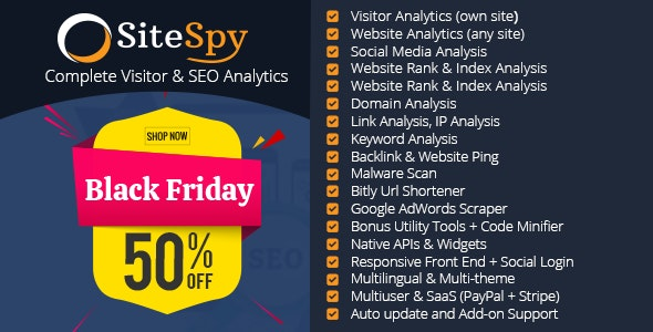 SiteSpy v5.1.3 – The Most Complete Visitor Analytics & SEO Tools