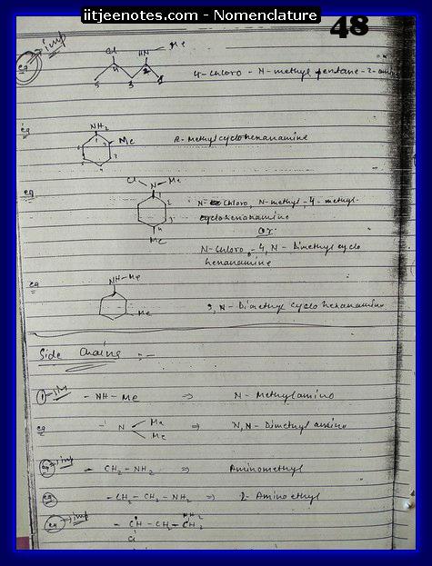 nomenclature organic5