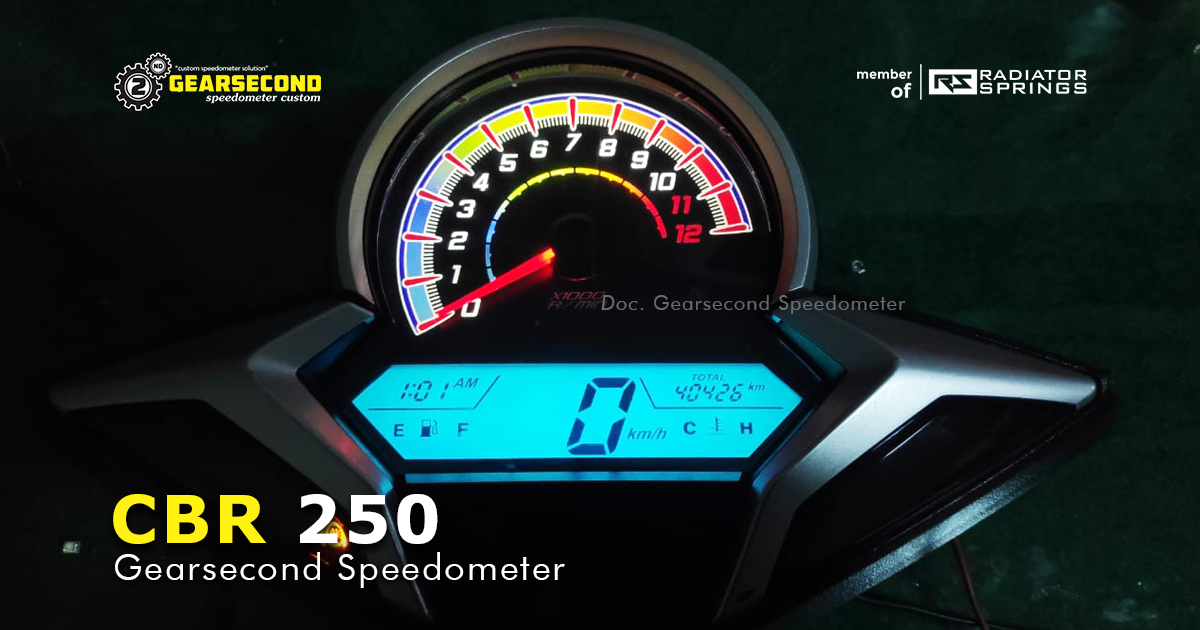 speedometer cbr 250 custom