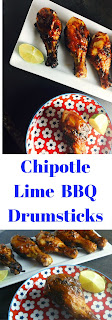 Chipotle Lime BBQ Drumsticks - A 5 ingredient dish that is soooo easy to make.  Perfect for the 4th of July or your next outdoor bash.  Quick enough for a weeknight meal!  Slice of Southern