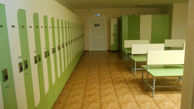 База отдыха в п.Мостовском, кабинки для переодевания