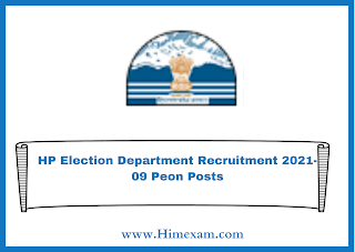 HP Election Department Recruitment 2021-09 Peon Posts
