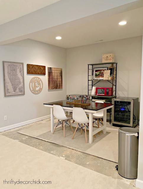 future basement kitchenette