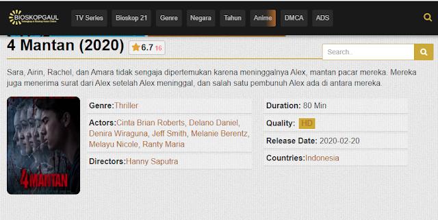 Nonton Film 4 Mantan (2020) Subtitle Indonesia Full Movie