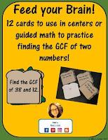 gcf math center cards