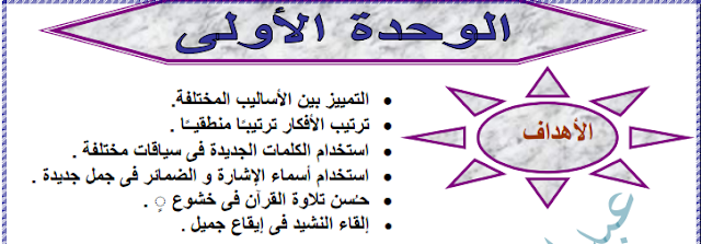 بوكلت اللغة العربية للصف الرابع الابتدائى