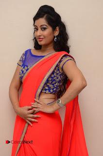 Actress Tejaswini Pictures in Saree at Pratikshanam Audio Launch  0017.JPG