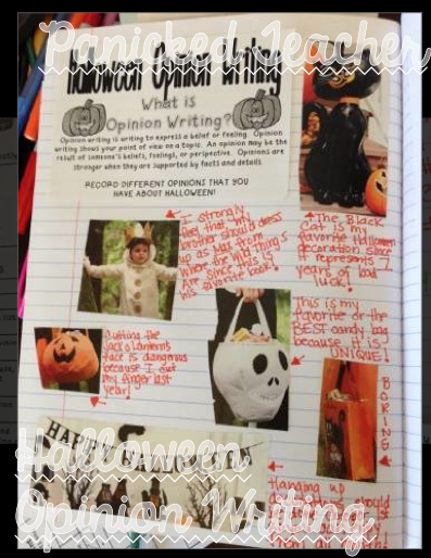Halloween Activity, Halloween Cut and Paste, Halloween Opinion Wrting