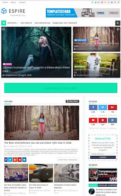 Espire Adsense Responsive Blogger Templates Without Footer Credit