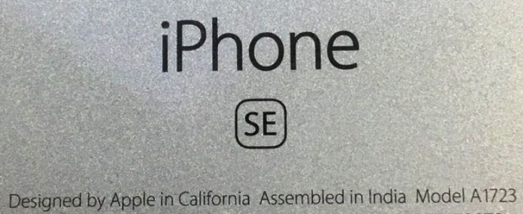 Apple iPhone Models Assembled in India, Apple iPhone SE