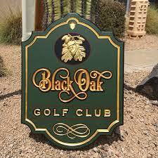 Placa loby campo de golfe
