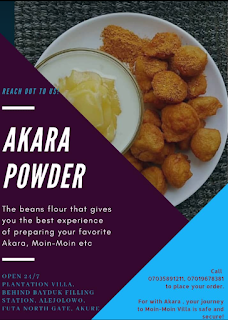 Akara Powder food recipe
