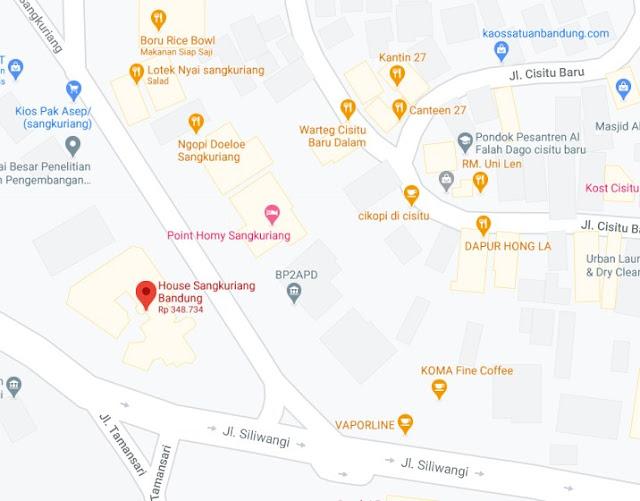 Map Letak Hotel House Sangkuriang Bandung