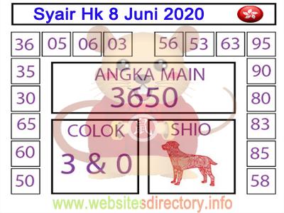 Syair Hk 8 Juni 2020