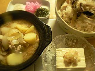 マツタケのお吸い物で作った炊き込みご飯セット