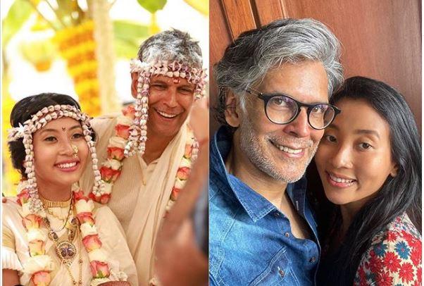 मिलिंद सोमन और अंकिता कोंवर