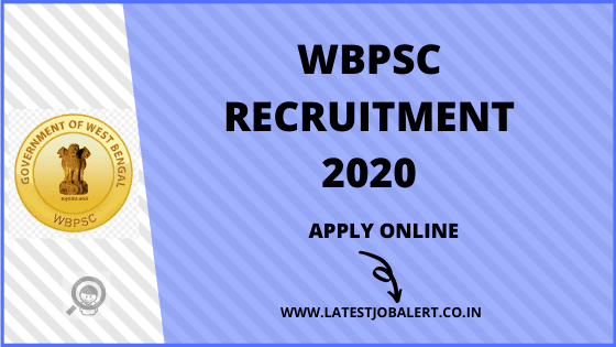WBPSC Job: WBPSC Recruitment of Inspectors Post online form 2020|Apply online