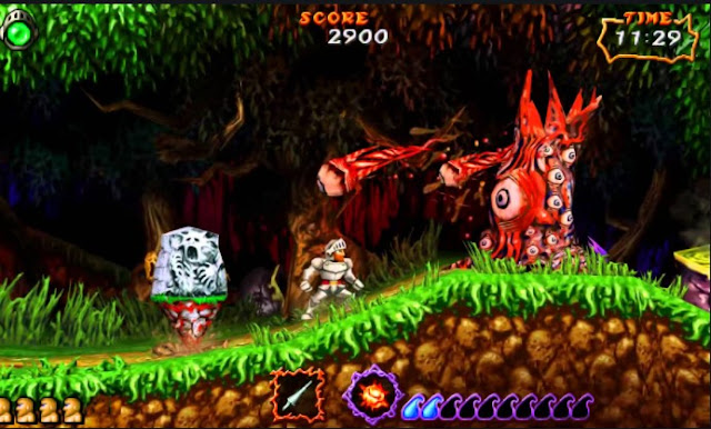 Ghosts 'n Goblins gameplay