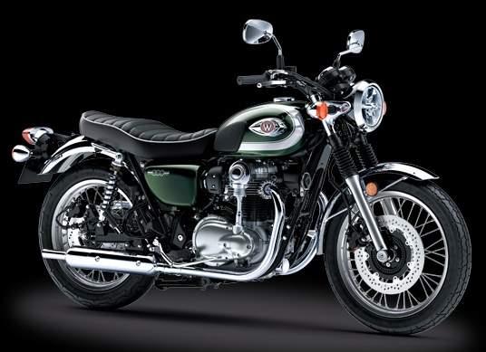 Kawasaki w800 Metallic Dark Green tahun 2020
