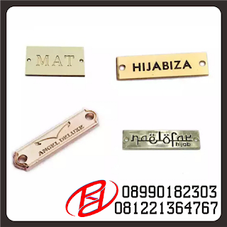 PLAT LABEL BAHAN ALLOY | PLAT LABEL BAHAN ZINC ALLOY | PLAT LABEL CUSTOM