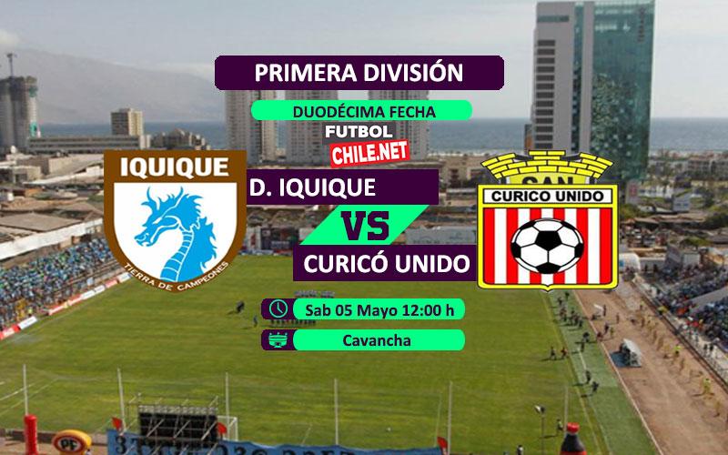 Mira Deportes Iquique vs Curicó Unido en vivo y online desde las 20:00 h por la Primera División