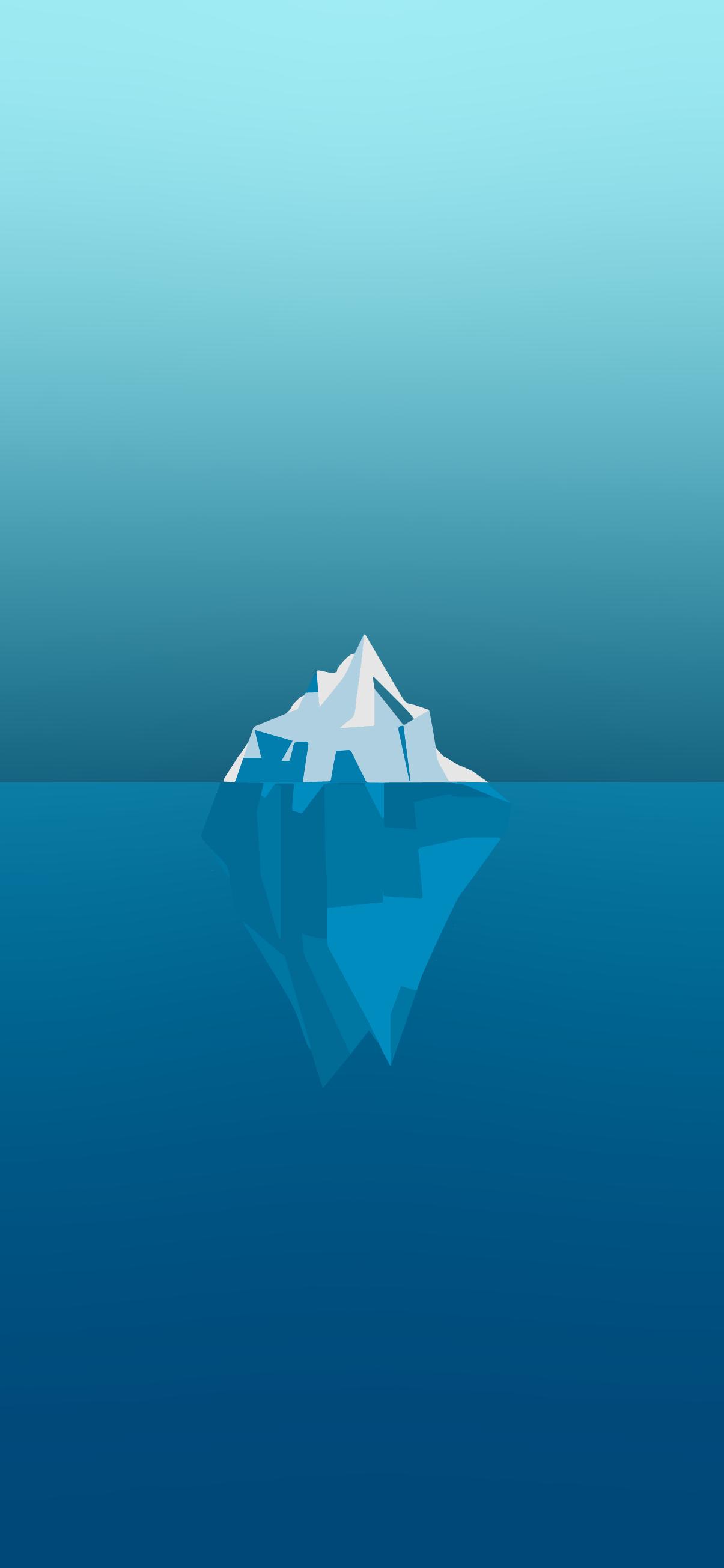 Minimalist phone wallpaper - Iceberg | HeroScreen - Cool ...