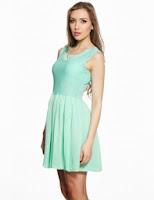 Rochie plisata verde 394