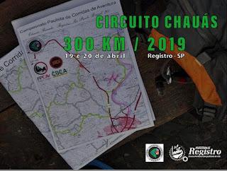 Registro-SP será sede da Chauás 300 2019, neste fim de semana