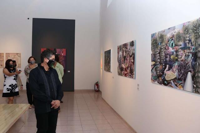 Inauguran muestra de la V Bienal de Pintura José Atanasio Monroy